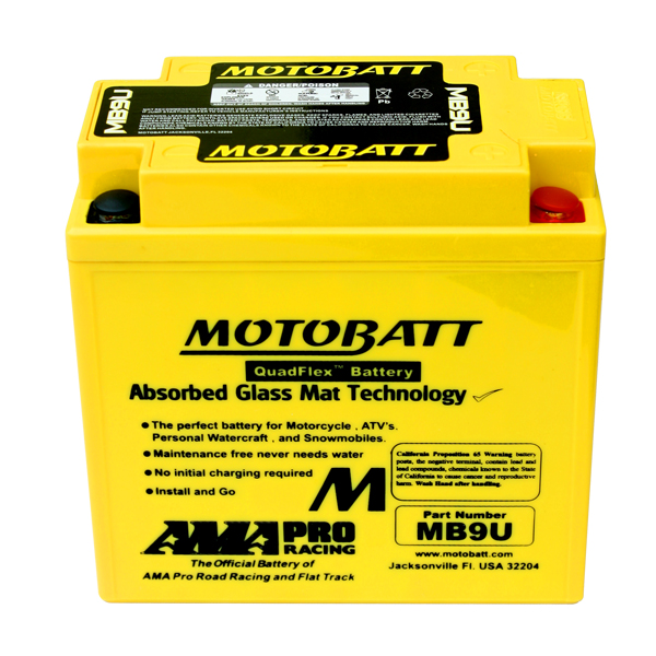 MB9U MOTOBATT 12V BATTERY
