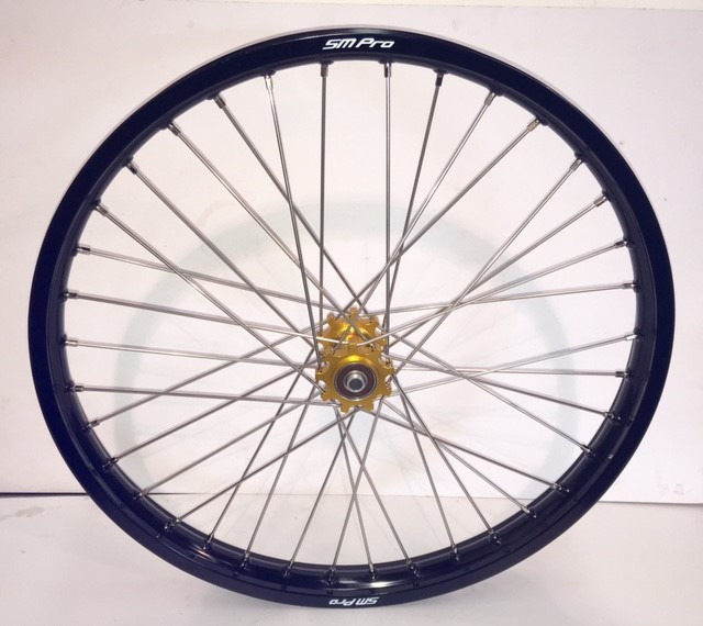 smpro-front-wheel-gold-hub-black-rim