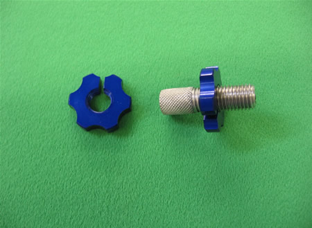 Clutch lever Adjuster Nut LARGE BLUE 7mm