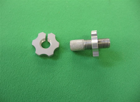 Clutch lever Adjuster Nut LARGE SILVER 10MM
