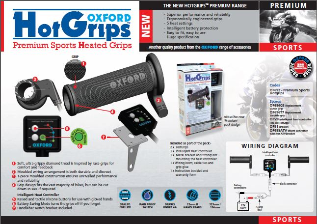 OXFORD SPORTS HOT GRIPS V8