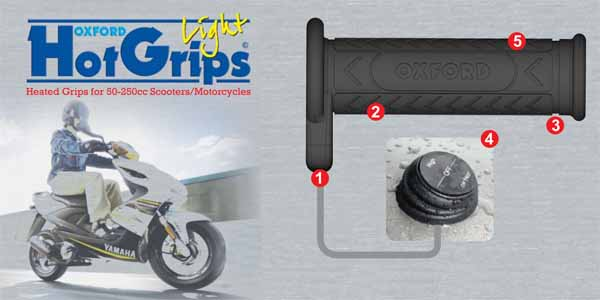 OXFORD HOT GRIPS SCOOTER LIGHT