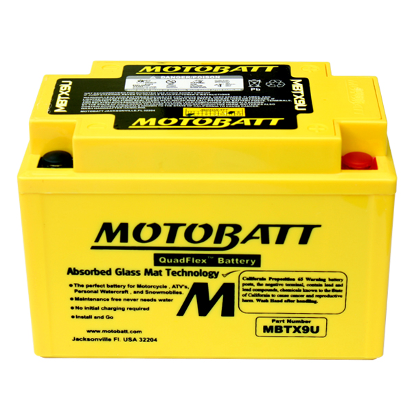 MBTX9U MOTOBATT 12V BATTERY YTX9-BS
